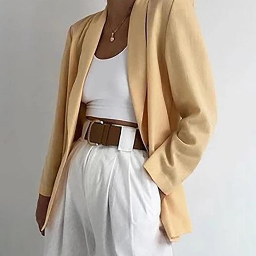 Solid Color Loose Trench Coat