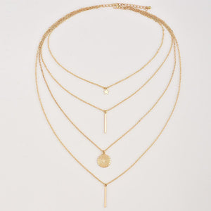 Pentagon Star Pendant Multilayer Necklace
