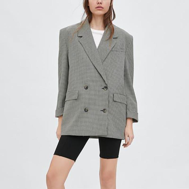 Houndstooth Double-Breasted Long Suit