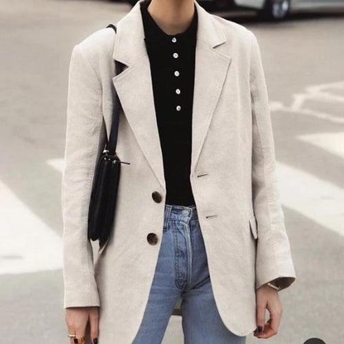 Fashion Casual Lapel Single Breasted Blazer