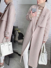 Load image into Gallery viewer, Winter Fashion Woolen Long Coat