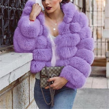 Load image into Gallery viewer, Pure Color Imitation Fur Coat Long Sleeve Loose Coat