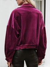 Load image into Gallery viewer, Pure-Purple Corduroy Lapel Jacket