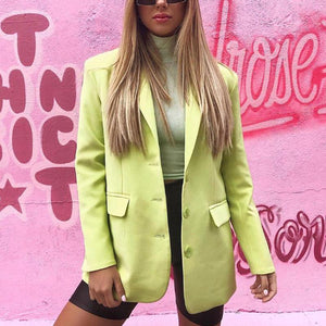 Casual Pure Color Long Sleeves Blazer