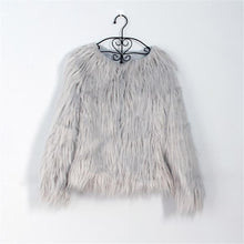Load image into Gallery viewer, Fashion Round Neck Faux Fur Short Coat Jacket