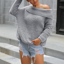 Load image into Gallery viewer, Sexy Pure Color Long Sleeve Sweater