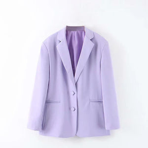 British loose toon purple Blazer