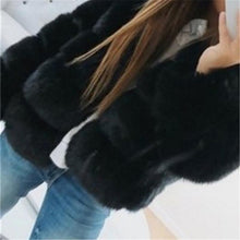 Load image into Gallery viewer, Women's Fashion Pure Colour Long Sleeve Plush Coat