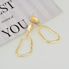 Load image into Gallery viewer, Fashion Personality Hollow Metal Alloy Irregular Women's Earrings