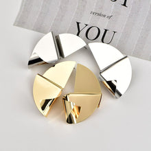 Load image into Gallery viewer, Fashion Personality Irregular Metal Smooth Women's Earrings Street Beat Street Card