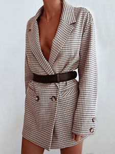 Fashion Double Breasted Long Sleeve Blazer