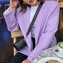 Load image into Gallery viewer, British loose toon purple Blazer