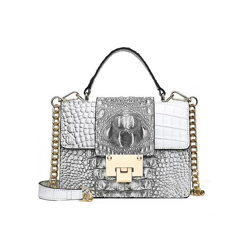 fashion Crocodile pattern square bag clutch bag