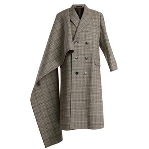 Bib Design Custom Plaid Suit Coat Jacket