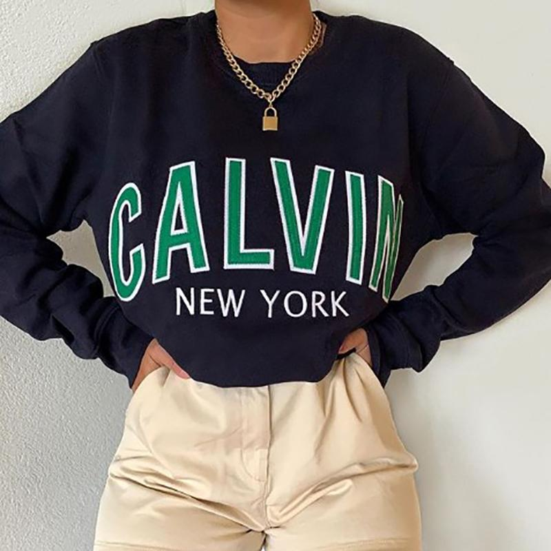 Fashion Printed Round Neck Sweatshirt