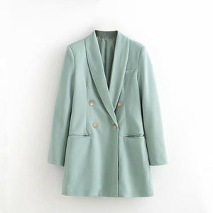 Vintage Loose Slim Open Bag Blazer