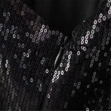 Load image into Gallery viewer, Fashion sequined double-row button in the long Blazer