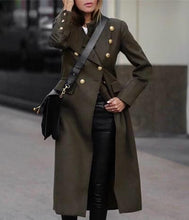 Load image into Gallery viewer, Autumn and winter fashion pure color long warm coat