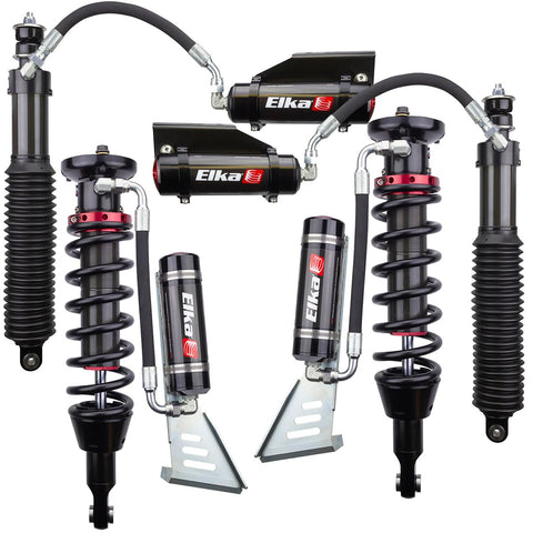 2010-2018 Lexus GX460 Elka 2.5 Reservoir Front & Rear Shocks Kit - Stock Geometry