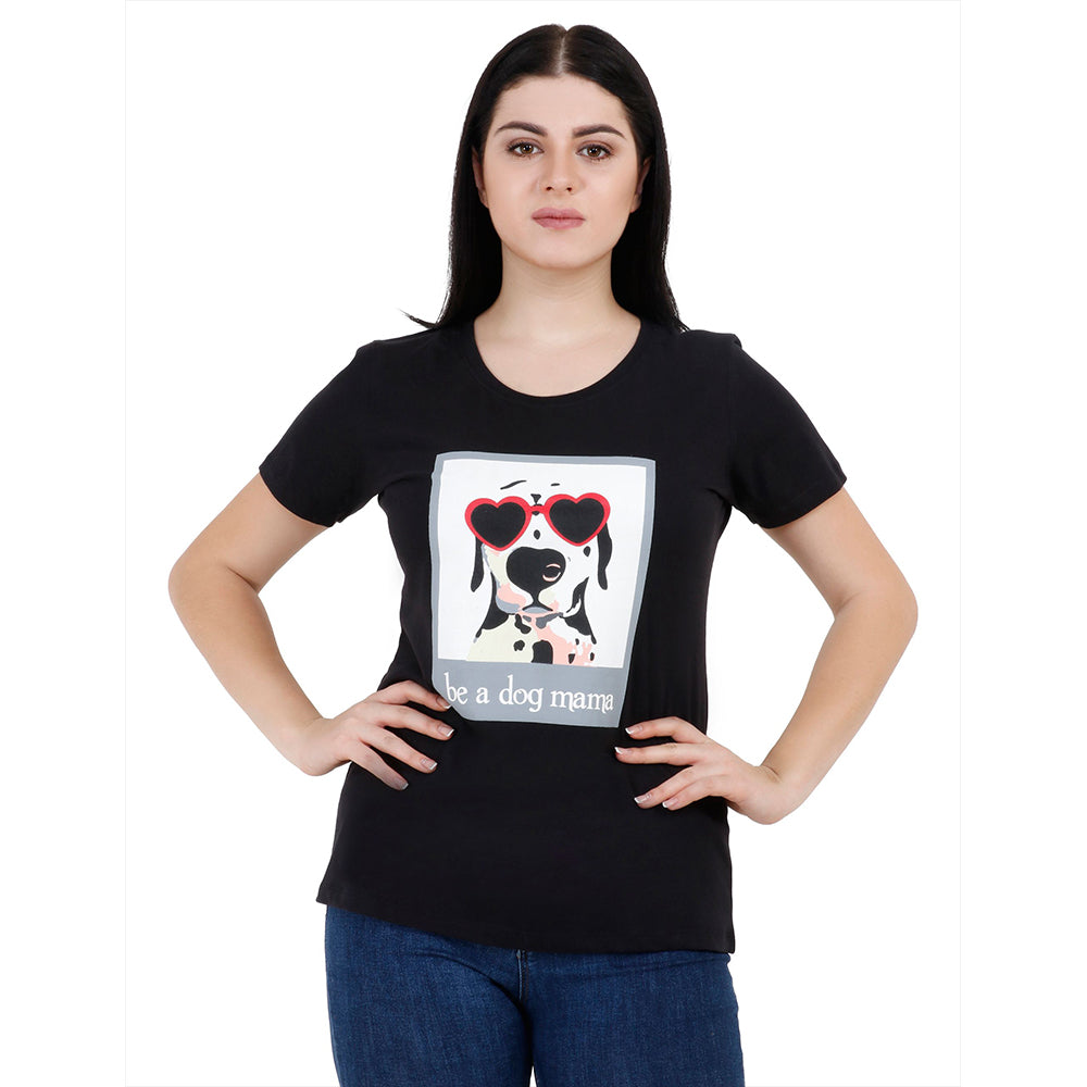 DOG MAMA Women's Cotton T-Shirt