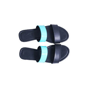 Blue black double strap