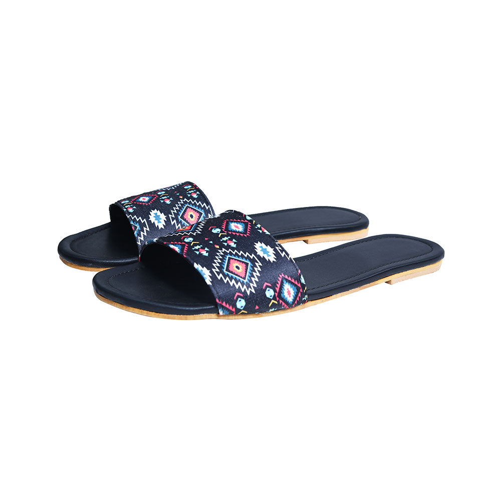 Black ikat slides