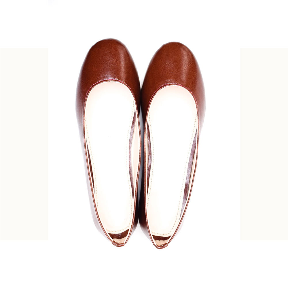 Brown ballerinas