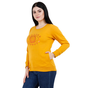 EYE SPY YELLOW & Pink Women's Fleece Sweatshirts