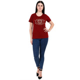 EYE SPY MAROON Women's Cotton T-Shirt