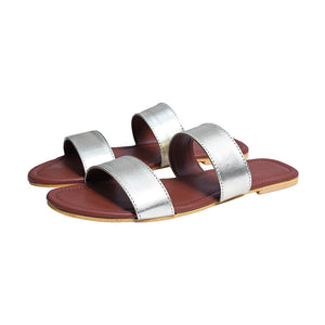 Metallic double band slides