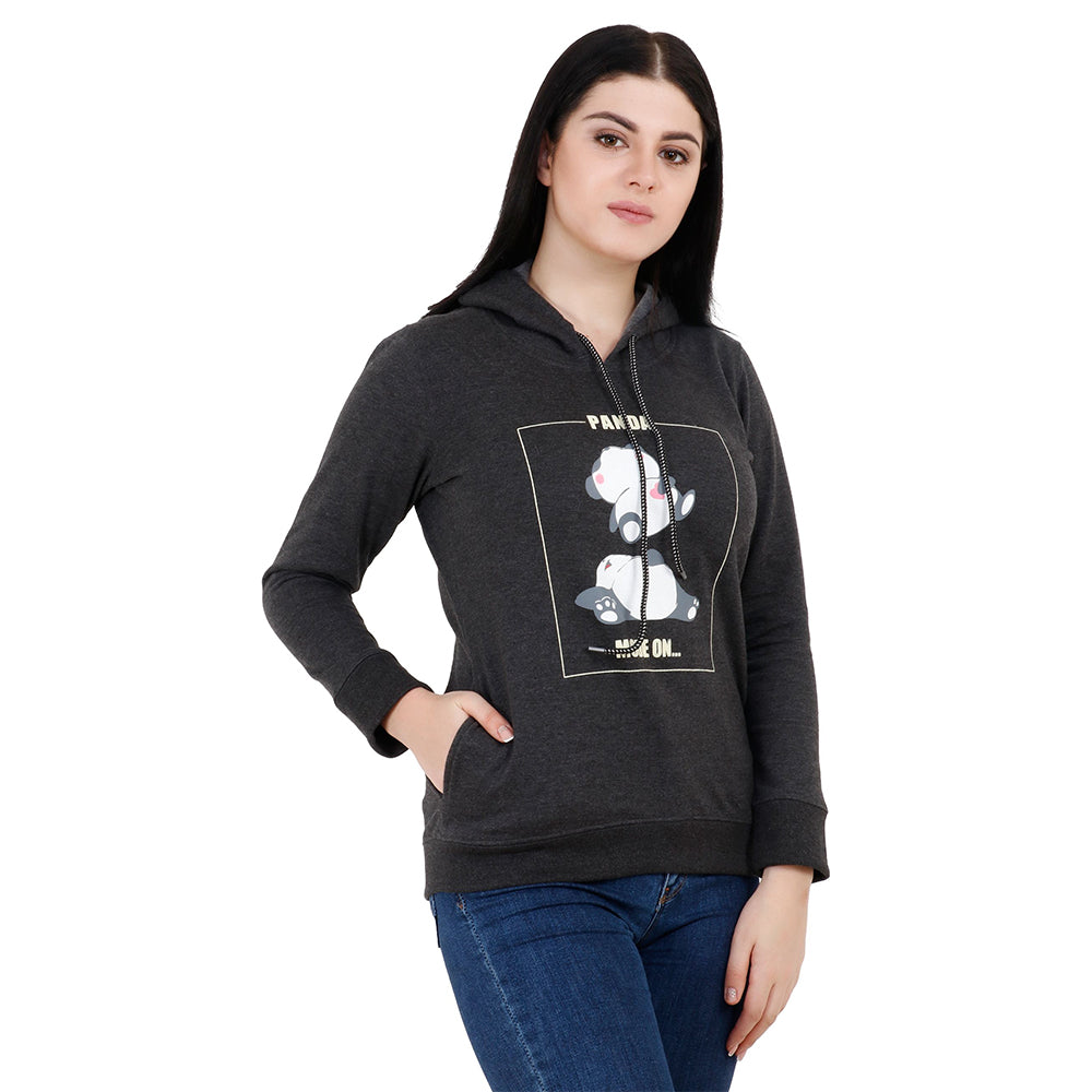 PANDA MODE ON Women's Fleece Hoodies