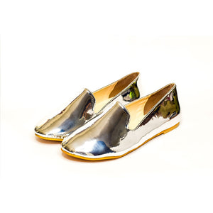 Silver mirror loafers