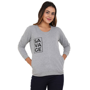Savage Black on Gray Sweatshirt
