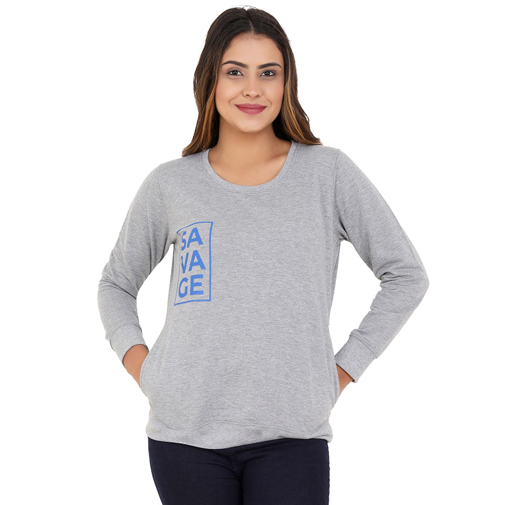 Savage blue on  gray Sweatshirt