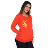 Savage yellow on orange Sweatshirt