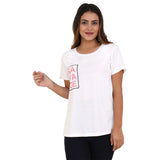 Savage Pink on White Women's Cotton T-Shirt