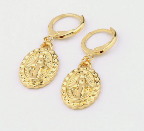 Mary Pendant Earrings
