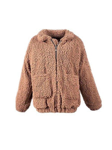 Saffron Teddy Jacket - Tan