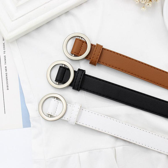 Basic Circle Buckle Belt