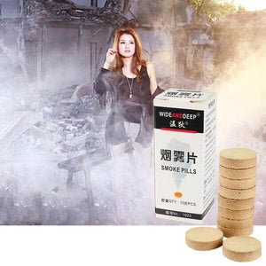 White Smoke Pills Combustion Smog Cake Effect Smoke Bomb Pills Halloween Decoration