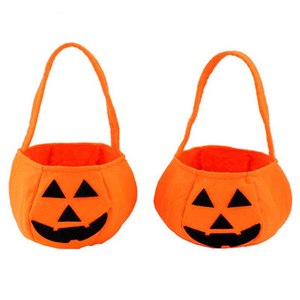 Halloween Foldable Candy Smile Pumpkin Bag
