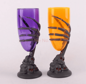Glowing LED Wine Cup Claw Skeleton SKull Halloween Goblet