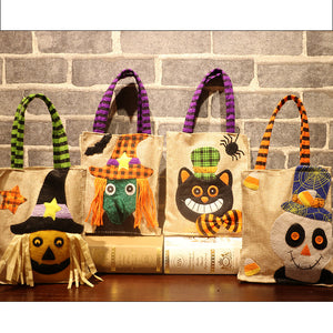 Halloween Decoration Linen Carrier Bag