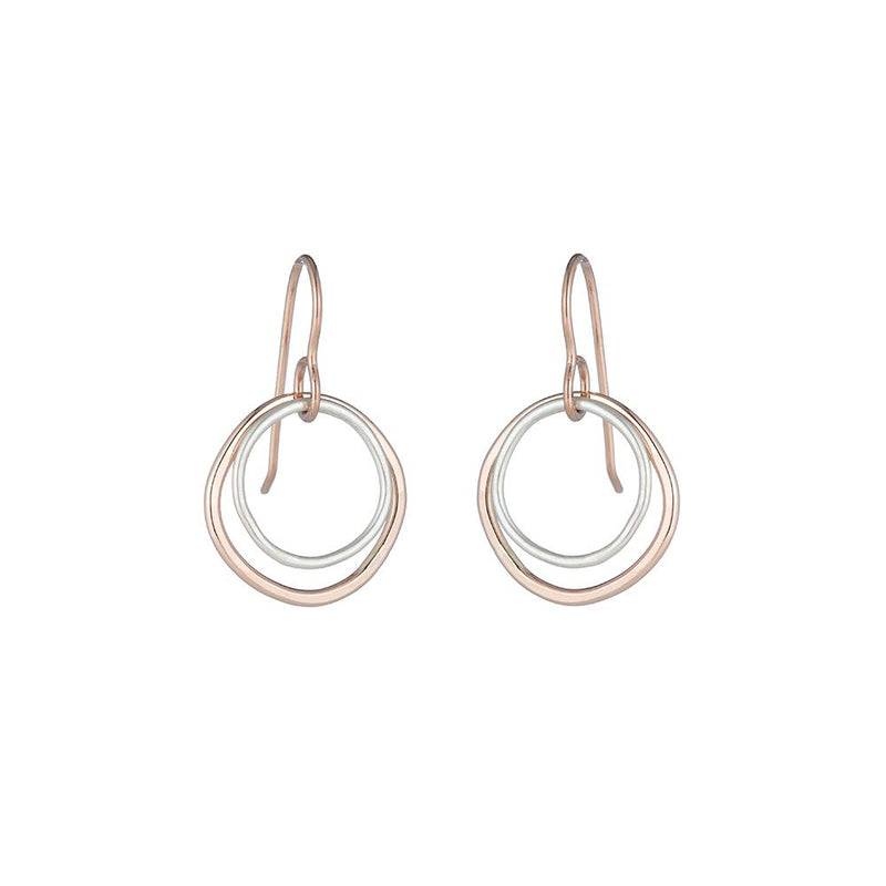 SMALL DOUBLE ROUNDED SQUARE EARRINGS - Anne Sportun Fine Jewellery