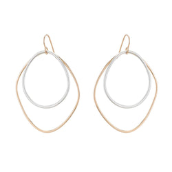LARGE DOUBLE ANGULAR HOOP EARRINGS - Anne Sportun Fine Jewellery