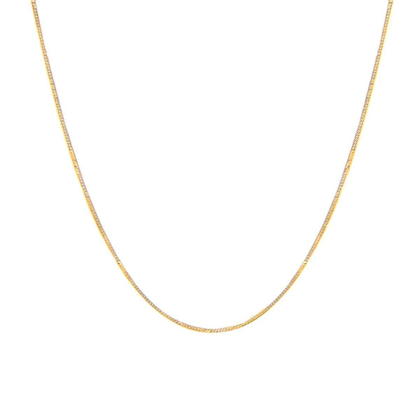 HERRINGBONE CHAIN NECKLACE | 10K GOLD