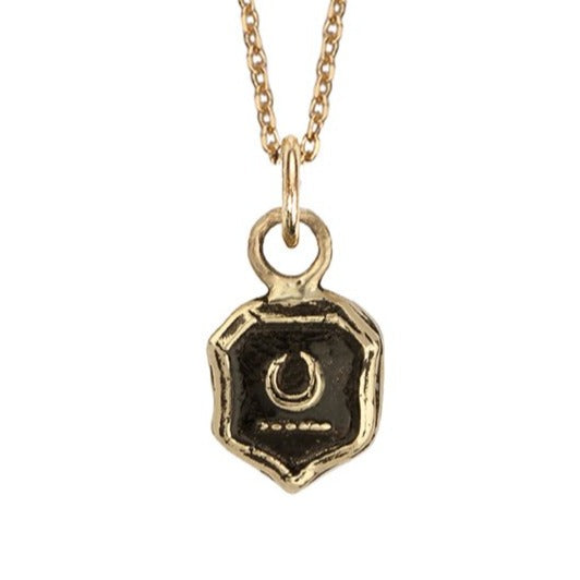 """NEW BEGINNINGS"" 14K GOLD TALISMAN CHARM"