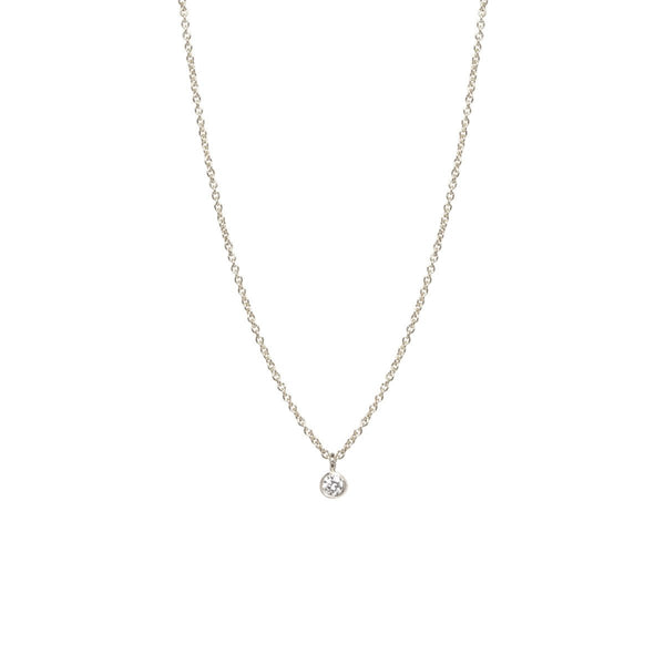 SINGLE DIAMOND PENDANT NECKLACE - Anne Sportun Fine Jewellery