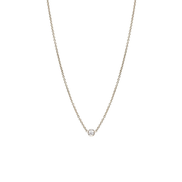 SINGLE DIAMOND NECKLACE - Anne Sportun Fine Jewellery