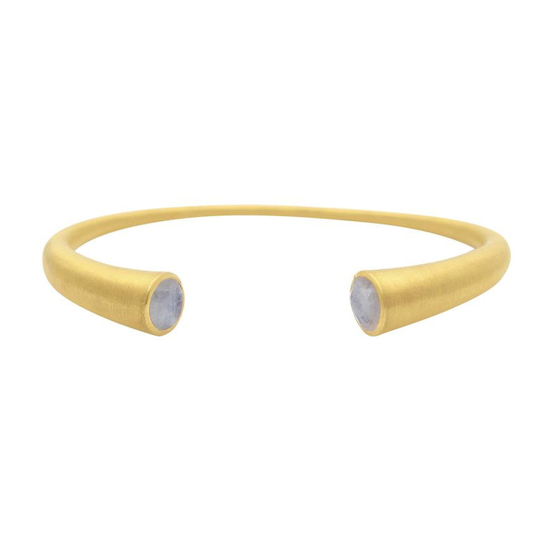 Knockout Twin Cuff, Gold - Moonstone